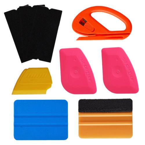 """Free shipping! 4"""" Carbon Fibre Felt Scratch-Free Squeegee Safety Cutter for Car Vinyl Wrapping Auto Window Tinting Tools Kit"""