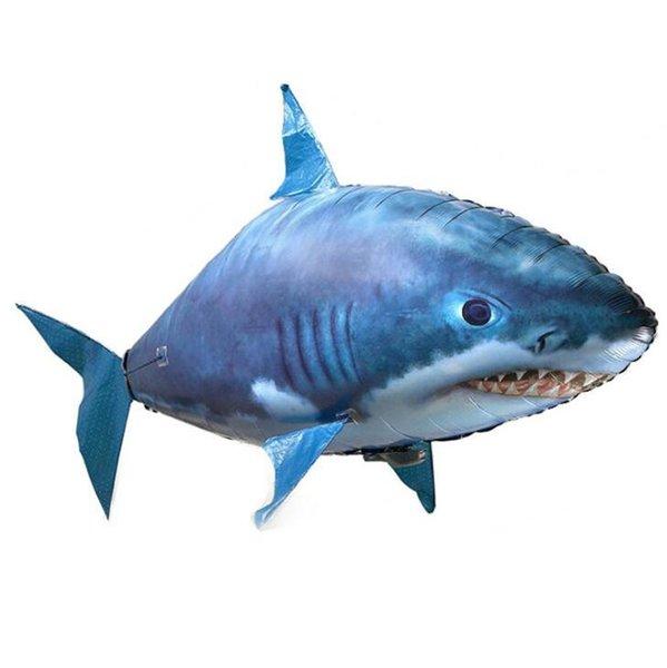 IR RC nadador del aire del tiburón Pez payaso del vuelo de los nadadores del aire Asamblea natación inflable Pez payaso remoto del dirigible no rígido control nadador juguete del globo del aire