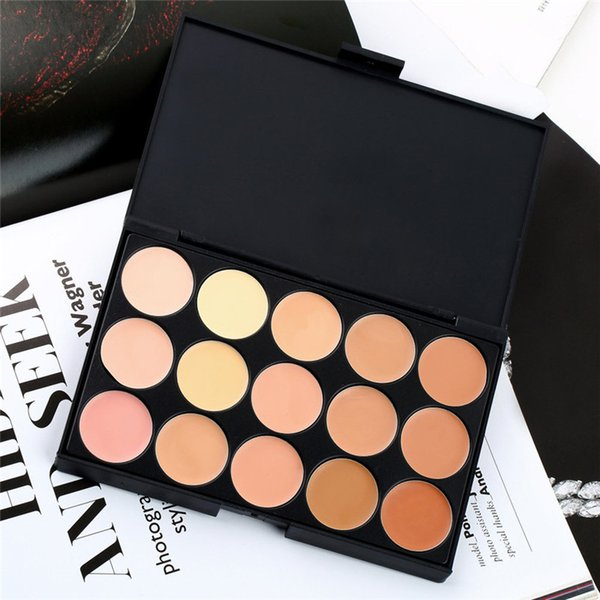 New hot 15 Color Cream Base Palettes Matte Contouring Professional Makeup Facial Concealer Camouflage Palette Eyeshadow
