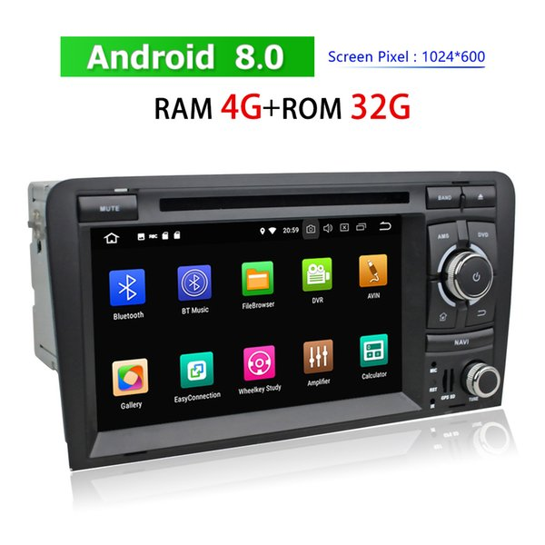 2 Din Touch Screen Car DVD Multimedia Player for Audi A3 2003~2013 Android Auto Stereo Radio GPS Navigation Bluetooth WIFI 3G 4G TV
