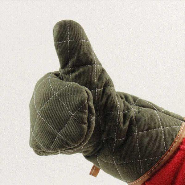 500 Degree Thicken Microwave Gloves Atrovirens Oven Pot Holder Super Heat-resistant Baking Glove Coon Cloth Kitchen Tools 1pcs