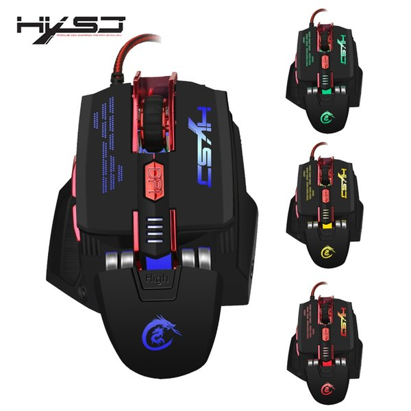 HXSJ X200 4000 DPI Colorful Gaming Mouse 7 Buttons Home Playing Games  Optical USB Wired Computer Game Mouse Typing Keyboard Urdu Keyboard From