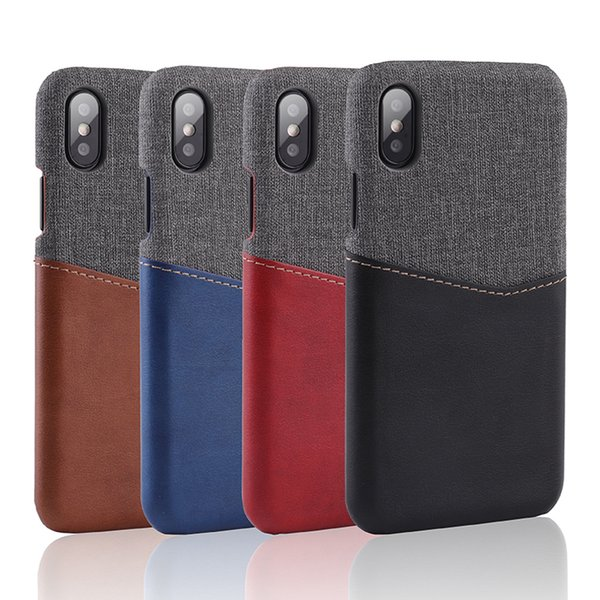 Hybrid Leather Fabric Wallet Card Slot Shockproof Case For iPhone X 8 7 6 6S Samsung S8 S9 Plus Note 9 Note9 Huawei Mate 9 10 P20 Pro