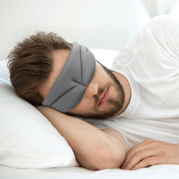 New 3D Soft Breathable Sleep Masks Portable Upscale Sleeping Eye Mask Travel Sleep Rest Aid Eye Patch Black Grey