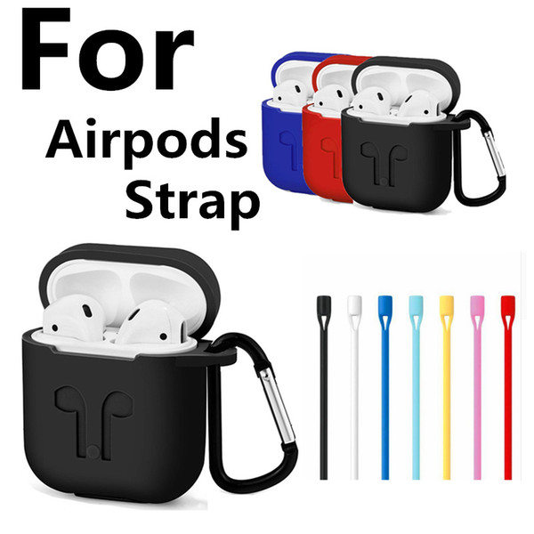 best selling AirPods Strap For iPhone 7 7Plus Air Pods Wire Rope Connector Headphones Anti Lost Soft String Rope For Airpod Phone Accessories