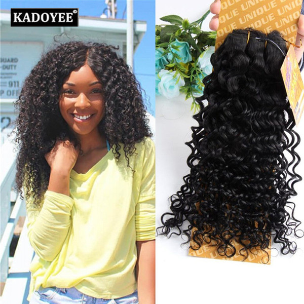 straight jerry curly human hair bundles brazilian hair 1pcs per pack 8-14inch 1b 2 black brown color wholesale price no shedding no tangle