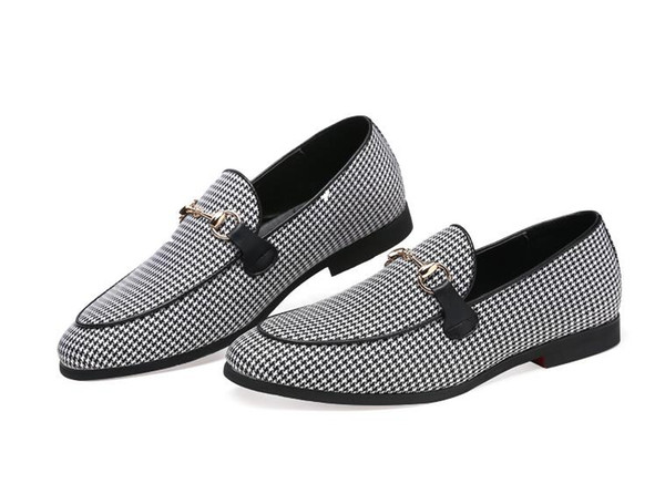 Großhandel 2019 Luxus Büro Herren Kleid Anzug Business Schuh Italienischen Stil Hochzeit Freizeitschuhe Slip Auf Derby Leder Kleid Schuhe S613 Von