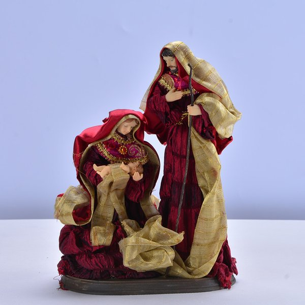 2019 Catholic Gospel Relic Church Supplies Religious Ornaments Jesus Mage  Saga Holy Family Statue Gift Ornament Figures Christ Craft From Bluesky11,