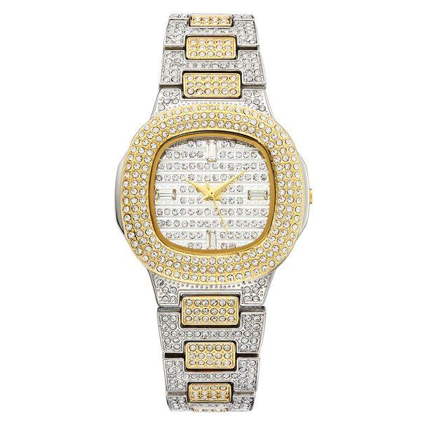 Marken-Uhr-Quarz-Damen-Goldmode-Armbanduhren Diamant-Edelstahl-Frauen-Armbanduhr-Mädchen-weibliche Uhr-Stunden