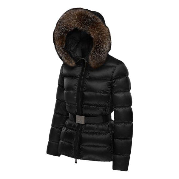 Großhandel Luxus Winter Verdickung Damen Gesteppte Fellkragen Mit Kapuze Daunenjacke Abnehmbare Fellkragen Taille Schlank Mode Mantel 1004511202216