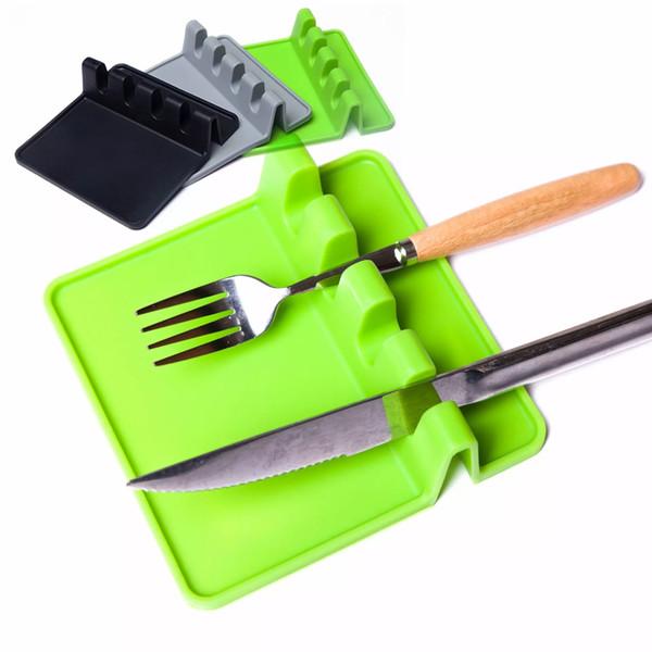 Stoviglie in silicone Rack Mat Pads Spatola spatola Tavolo impermeabile antiscivolo di alta qualità 3 colori TC180925 50 pz