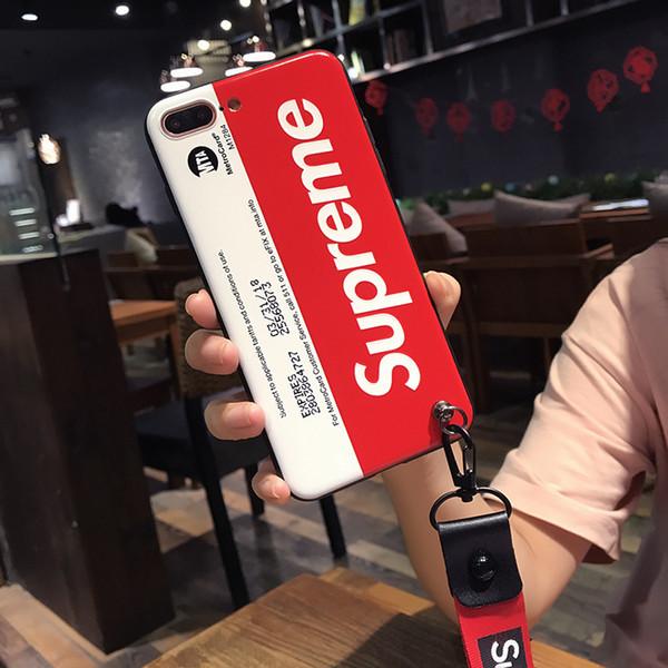 Neuer Entwerfer-Telefon-Kasten für IPhone X 6 / 6S 6plus / 6S plus 7/8 7plus / 8plus Heißer Verkauf für Großhandelsart- und weisemarken-Buchstabe TPU 2 Farbe