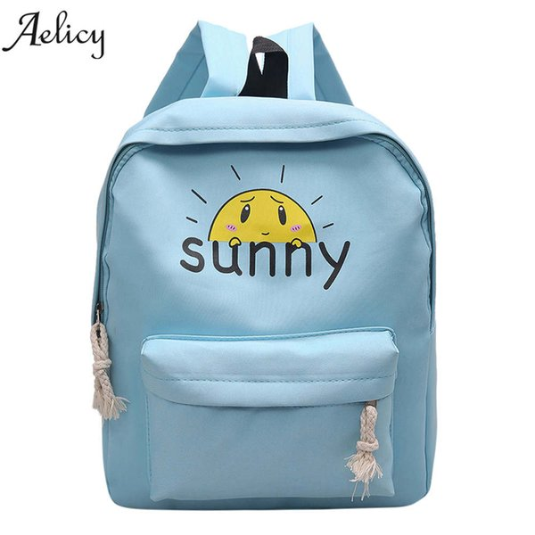 Aelicy Fashion Girls Boys Cartoon Zipper Backpack For Women Girls Rucksacks School Backpack for Teenage Girl Travel Shoulder Bag