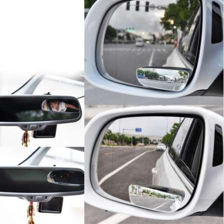 2Pc Car Mirror Auto 360 Wide Angle Round Convex Mirror Car Vehicle Side Blindspot Blind Spot Mirror Small Round RearView r