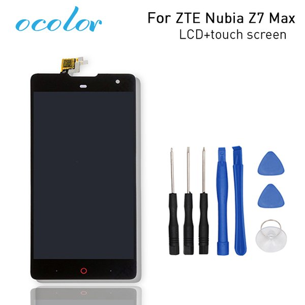 screen touch ocolor Good For ZTE Nubia Z7 Max LCD and Touch Screen Assembly Repair Parts for ZTE Nubia Z7 MAX NX505J Phone+Tools