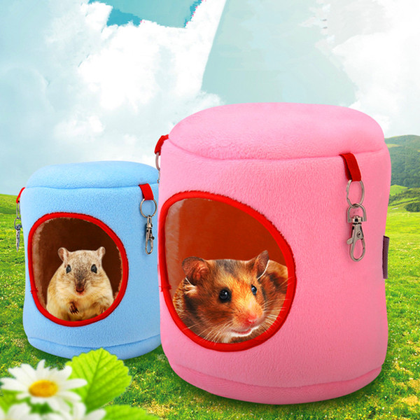 Winter Warm Cotton hanging Hamster Bed Small Animal Pet Rabbit Cage Guinea Pig Hamster Cage Bed Squirrel House Hedgehog Nest