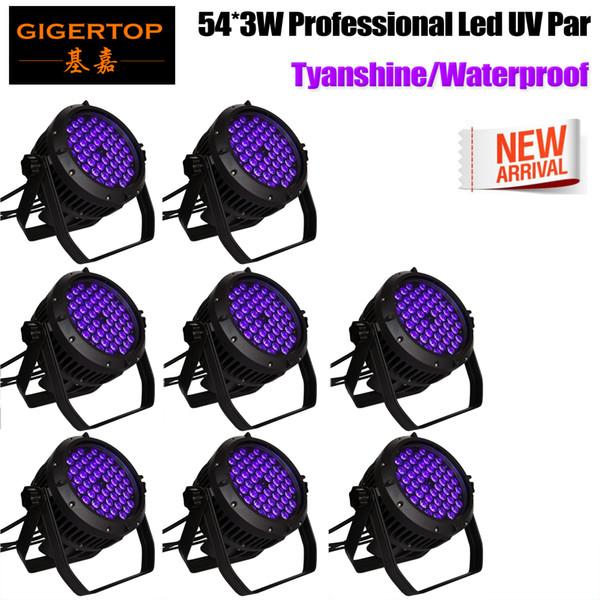 Gigertop 8 Paket Sahne Işıkları 150 W LED RGBWAP Parti Işıkları, DMX-512 Sahne Aydınlatma Projektör Par Işıklar için Parti Disco Show Pub KTV Dj Işık
