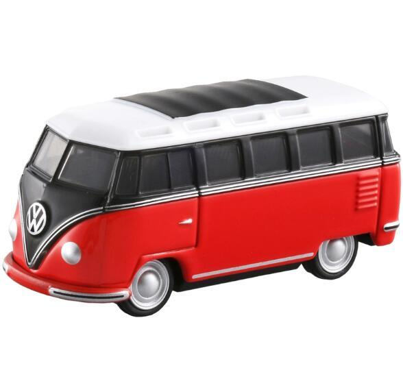 High quality new TOMY Dome card simulation alloy car model Volkswagen sightseeing tour bus TP07 van 824305