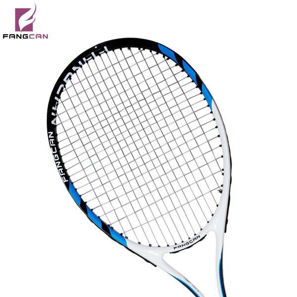 FANGCAN SUPER A8 Karbon Alüminyum Kompozit Tenis Raketi Mavi Renk Dize ve Tam Kapak Ile
