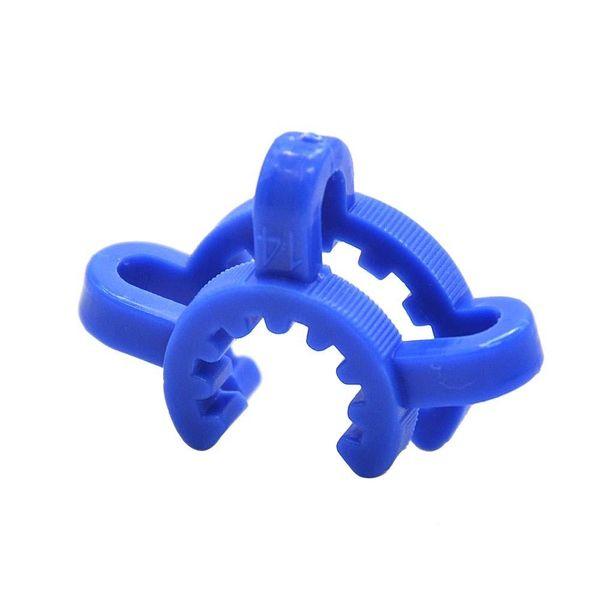 Plastik Keck Klip K-Klipler Laboratuvar Lab Kelepçe Klip 10mm Cam için 14mm 19mm Plastik Kilit Bongs Su Boruları Adaptörü Nektar Toplayıcı
