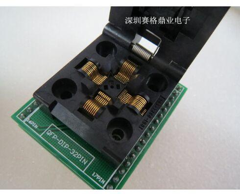Original YAMAICHI IC Test Seat IC51-0324-805 Burning Programme TQFP32 QFP32 Socket Adapter Spacing of 0.5