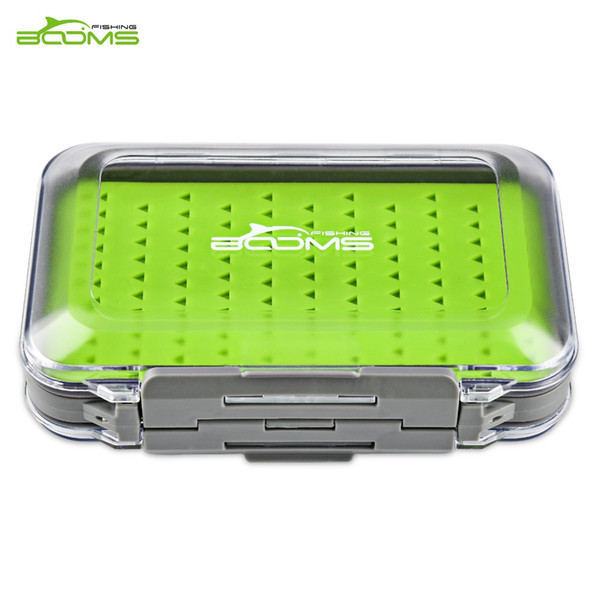 Booms Fishing Fly Fishing Box Waterproof Double Side and Silicone Insert Tackle Boxes Transparent Plastic Fly Box Lure Hook Case