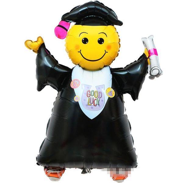 Good Luck Aluminum Film Balloon Congrates Grade 18 Inch Circular Graduation Cap Graduation Ceremony Scene Decoration Classic Toys 0 58qh ff