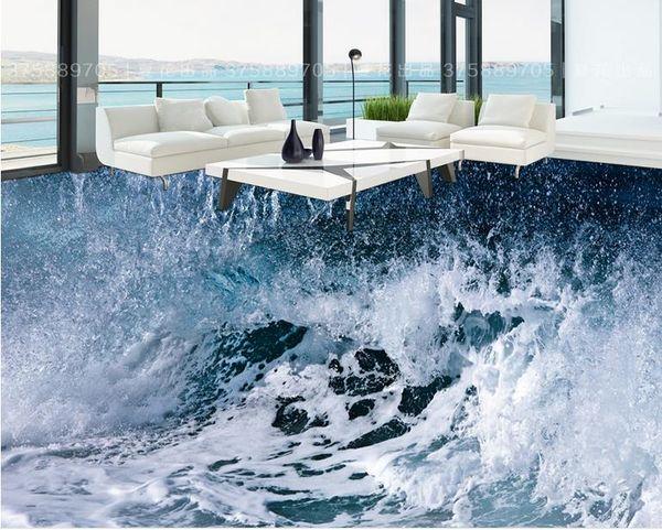 Compre Fondos De Pantalla Para Paredes 3d Sea Storm Waves Bathroom 3d Floor Tiles Para Pintar Murales De Pared 3d Fondo De Pantalla A 5026 Del