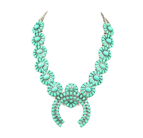 whole salehigh quality squash blossom necklace latest design necklace jewelry best selling women