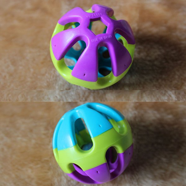 free shipping Ring Ball Pet Toy For Cat Dog Puppy Happy Jingle Bell Ball Chewing Round Ball Toy Pet Dog Training Toys