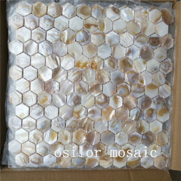 natural dapple freshwater shell mother of pearl mosaic tile for house decoration wall tile hexagon style green color 2 square meters/lot