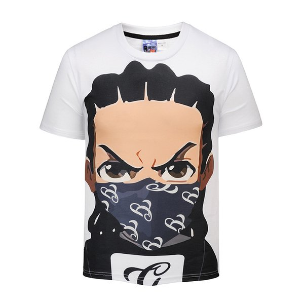 WBDDT the Boondocks Riley Gun T-shirt Men Anime Top 3D Print t shirts Thermal Transfer Suit Homme Drop Shipping