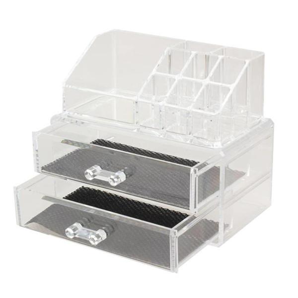 Portable Transparent Makeup Organizer Storage Box Acrylic Make Up Organizer Cosmetic Makeup Storage Drawers Christmas