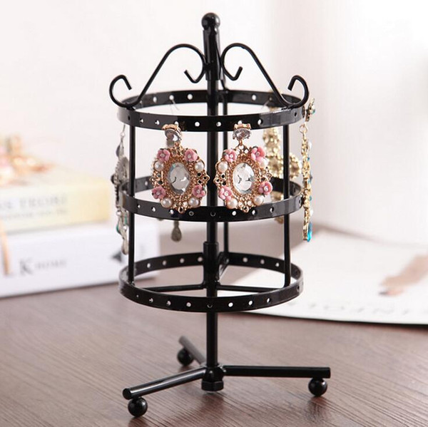 Hot Selling New 72 Holes and 96 Holes Earrings Holder Jewelry Display Storage Stand Metal Revolving Jewellery Display Rack