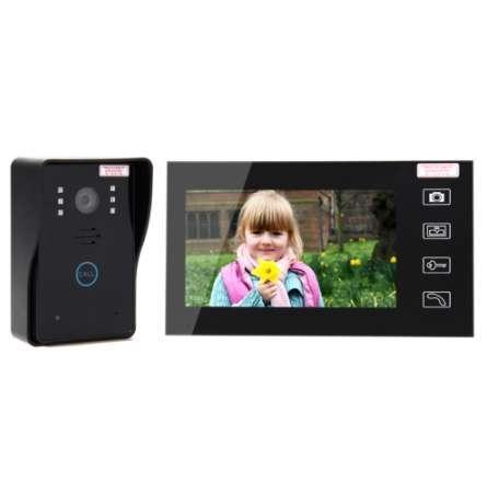 """New 7"""" LCD 2.4G Color Screen Electronic Door Bell Viewer IR Night Door Peephole Camera Photo/Video Recording Digital Door Camera"""