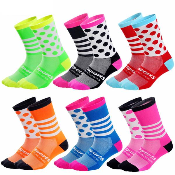 Hohe Qualität Marke Kompression Radfahren Socken Pro Sport Socken Atmungsaktive Straße Fahrrad Outdoor Sports Racing Radfahren