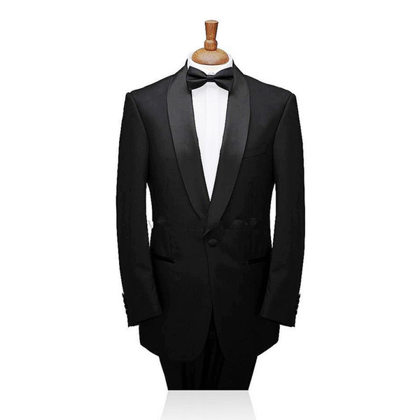 New Arrival Custom Made Single-Breasted 2 Pieces Groom Tuxedos Shawl Lapel Best Man Suits (Jacket+Pants) Formal Mens Suits