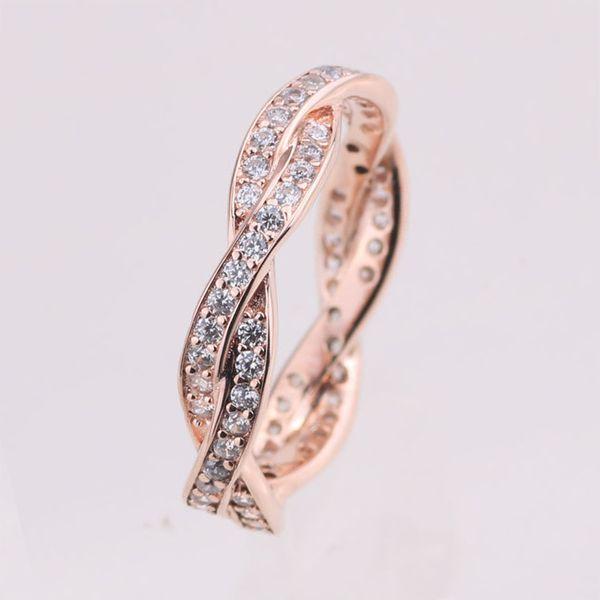 anelli oro rosa e argento pandora donna