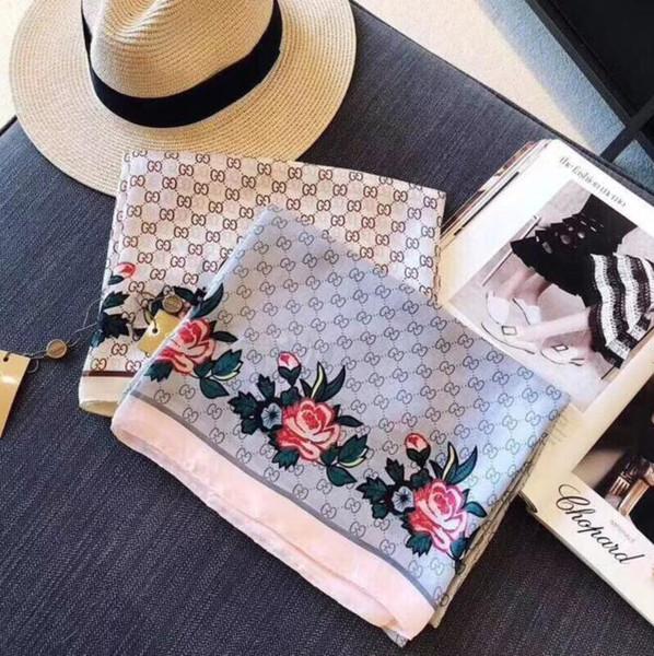 La bufanda de lujo 2018 es una bufanda de seda del mantón de la bufanda suave de la calidad perfecta de las mujeres para la caída de la primavera y el verano