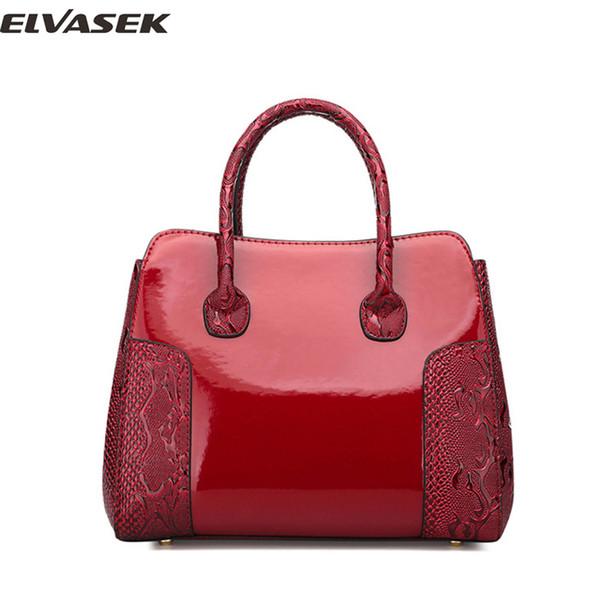 ELVASEK Handbag Women PU Leather Handbags Lady Elegant Composite Bag Female Alligator Small Mother Package Bags For Girl A5933/k