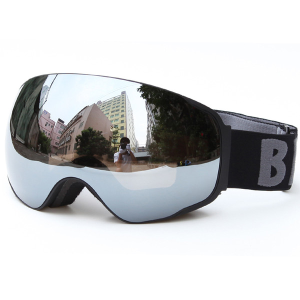 Snow Skiing Goggles Double Lens Anti Fog Snowboard Eyewear Men Women Anti Ultraviolet Ski Glass With Case S104G