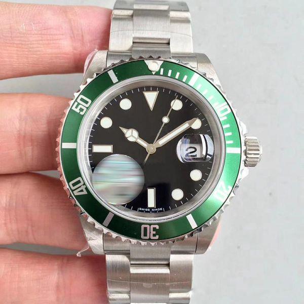 Relojes MENS al por mayor y de lujo 116610 Verde Negro S-U - movimiento automático reloj de pulsera de alta calidad HOMBRE HOMBRES ENVÍO GRATIS