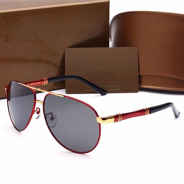 Marca óculos de sol new óculos de sol marca designer de metal quadrado forma retro men designer marca óculos de sol lente óculos com casos originais