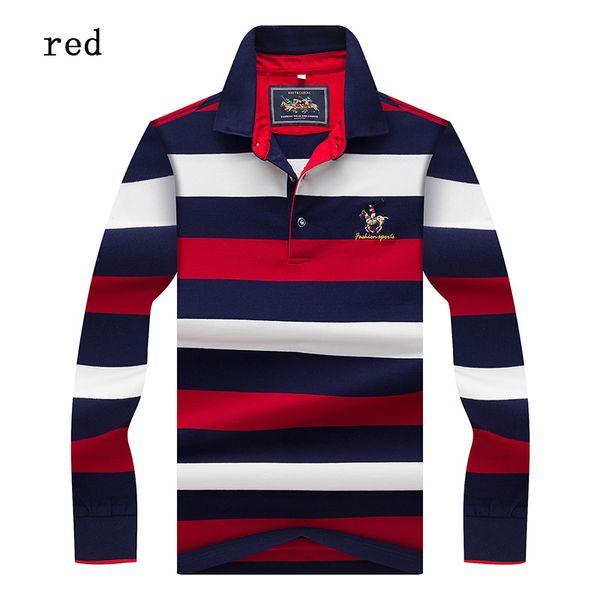 New Tops &Tees Men 'S Polo Shirts Fashion Style Winter Striped Brand Long Sleeve Polo Shirt Men Polos Solid Polo Shirt