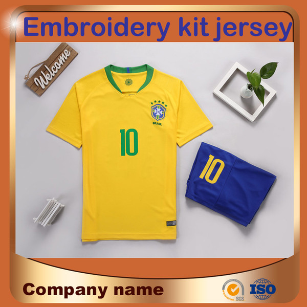2018 World Cup team Kit camisa de futebol # 10 estrela de futebol camisa de futebol COUTINHO MARCELO PAULINHO terno uniforme de futebol
