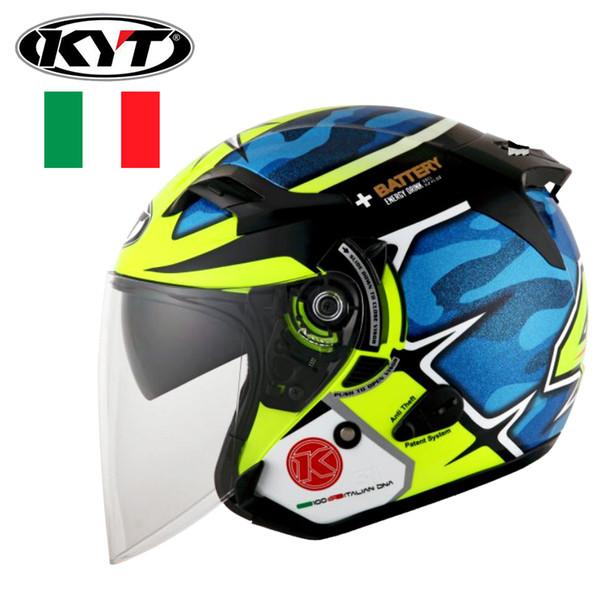KYT Motorcycle Helmet Summer Moto Riding Half Helmet Motorbike Casque ABS Shell Motocross M/L/XL/XXL DOT approved
