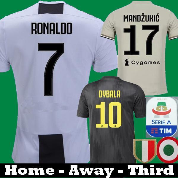 2019 Juventus Ronaldo DYBALA MARCHISIO BONUCCI MANDZUKIC 2018 Soccer jerseys  18 19 away black COSTA Matuidi Bernardeschi CHIELLINI Shirts e549e8c3e
