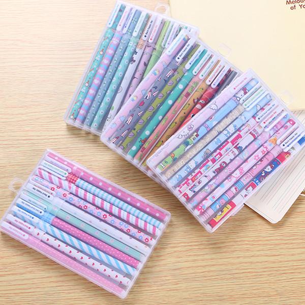 10 pcs kawaii flor colorido Chancery gel caneta papelaria escritório material escolar canetas estacionários coloridas caneta cor