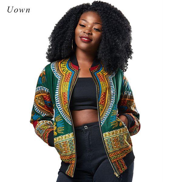 Traditional African Print Ankara Jacket Women Autumn Winter African Fashion Attire Pattern Bomber Jacket Coat Dashiki Clothing