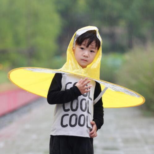 best selling Creative Umbrella Outdoor Fishing Golf Child Adult Cover Transparent Umbrellas Rain Coat Raincoat Umbrella Headwear Hat Cap Size S M L